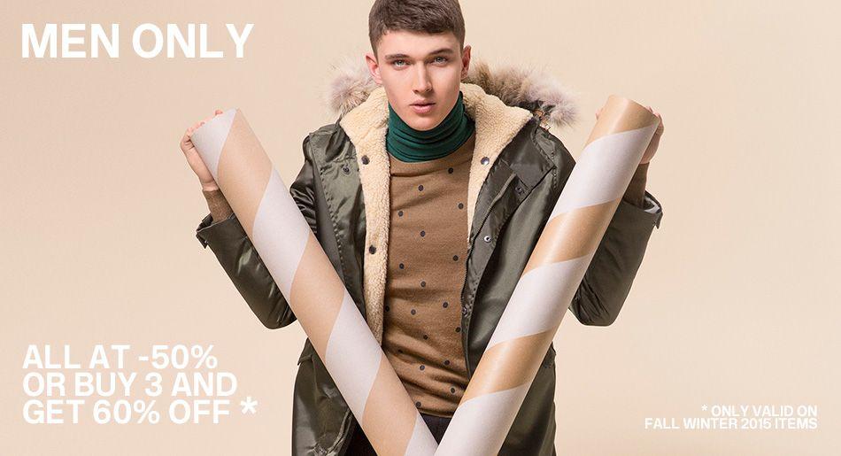 up to 60% off on menswear | Essentiel Antwerp banner